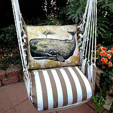 "Whale Striped Hammock Chair Swing ""Striped Chocolate"" 