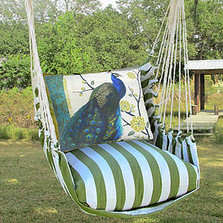 "Peacock Hammock Chair Swing | Magnolia Casual ""Summer Palm"" 