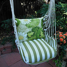 "Frog Lilypad Hammock Chair Swing ""Summer Palm"" 