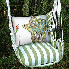 "Sea Turtle Hammock Chair Swing ""Summer Palm"" 