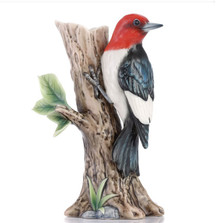 Woodpecker Sculptured Porcelain Vase | FZ03436 | Franz Collection