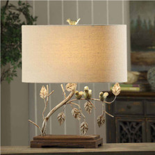 Birds On A Branch Table Lamp | Crestview Collection | CVAVER568