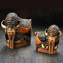 Bison and Baby Ceramic Figurine Set | De Rosa | Rinconada | F201-F401
