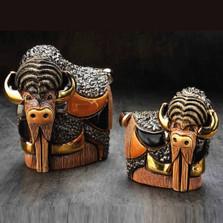 Bison and Baby Ceramic Figurine Set | De Rosa | Rinconada | F201-F401