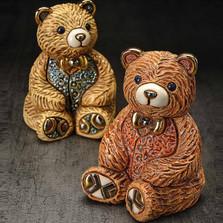 Teddy Bear Ceramic Figurine Set | De Rosa | Rinconada | F202G-F202R