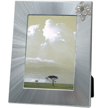 Apple Blossom Flower 5x7 Photo Frame | Heritage Pewter | HPIFR4278LG