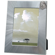 Lion 5x7 Photo Frame | Heritage Pewter | HPIFR738LG