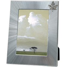 Maple Leaf 5x7 Photo Frame | Heritage Pewter | FR3131LG