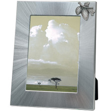 Pine Cone 5x7 Photo Frame | Heritage Pewter | HPIFR3022LG