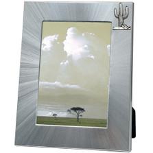 Saguaro Cactus 5x7 Photo Frame | Heritage Pewter | HPIFR3003LG