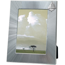 Sail Boat 5x7 Photo Frame | Heritage Pewter | HPIFR3036LG