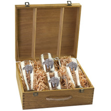 Bear Tribal Beer Glass Boxed Set | Heritage Pewter | HPIBSB3999