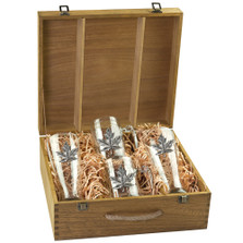 Maple Leaf Beer Glass Boxed Set | Heritage Pewter | HPIBSB4111
