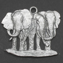 Elephant Herd Pewter Ornament | Andy Schumann | SCHMC122172