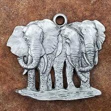 Elephant Herd Pewter Ornament | Andy Schumann | SCHMC122172