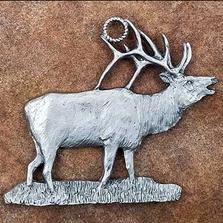 Elk Pewter Ornament | Andy Schumann | SCHMC122174
