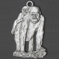 Gorilla and Baby Pewter Ornament | Andy Schumann | SCHMC122153
