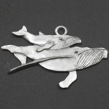 Humpback Whale and Baby Pewter Ornament | Andy Schumann | SCHMC122167