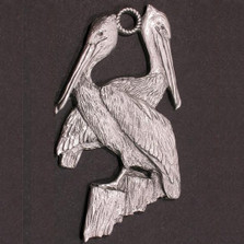 Pelican Pewter Ornament | Andy Schumann | SCHMC122175