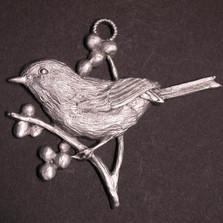 Chickadee Pewter Ornament | Andy Schumann | SCHMC122156