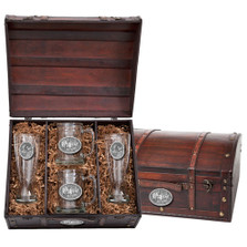 Moose Beer Glass Chest Set | Heritage Pewter | HPIBCS103