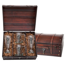 Seahorse Beer Glass Chest Set | Heritage Pewter | HPIBCS3400