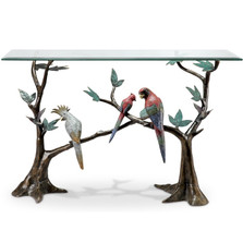 Macaw Tropical Bird Console Table | 80309 | SPI Home