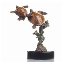 Double Sea Turtle Sculpture | 80098 | SPI Home