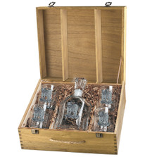 Tiger Capitol Decanter Boxed Set | Heritage Pewter | HPICPTB3986