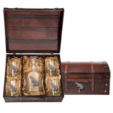 Alligator Capitol Decanter Chest Set | Heritage Pewter | HPICPTC3770
