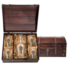 Seahorse Capitol Decanter Chest Set | Heritage Pewter | HPICPTC3400