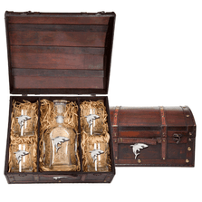 Shark Capitol Decanter Chest Set | Heritage Pewter | HPICPTC3350