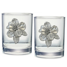 Apple Blossom Double Old Fashioned Glass Set of 2 | Heritage Pewter | HPIDOF4278