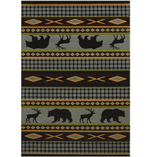 "Bear Area Rug ""Manitou Blue"" 