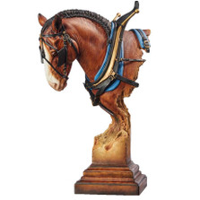 "Clydesdale Horse Sculpture ""A Light Burden"" 