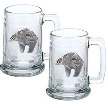 Bear Tribal Beer Stein Set of 2 | Heritage Pewter | HPIST3999