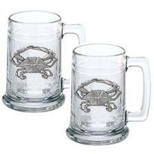 Blue Crab Beer Stein Set of 2 | Heritage Pewter | HPIST4266