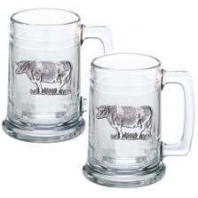 Cow Beer Stein Set of 2 | Heritage Pewter | HPIST3790