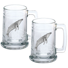 Humpback Whale Beer Stein Set of 2 | Heritage Pewter | HPIST3380