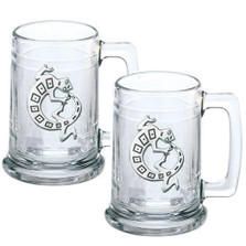 Lizard Gecko Beer Stein Set of 2 | Heritage Pewter | HPIST4054