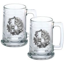 Manatee Beer Stein Set of 2 | Heritage Pewter | HPIST4110