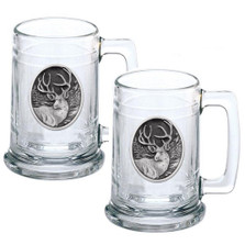 Mule Deer Beer Stein Set of 2 | Heritage Pewter | HPIST210