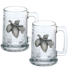 Pine Cone Beer Stein Set of 2 | Heritage Pewter | HPIST3022
