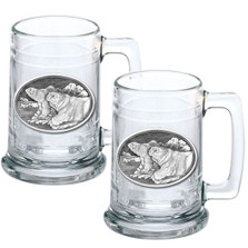 Polar Bear Beer Stein Set of 2 | Heritage Pewter | HPIST112