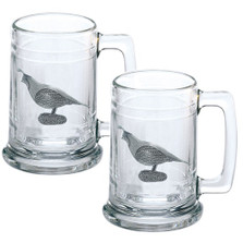 Quail Beer Stein Set of 2 | Heritage Pewter | HPIST3140