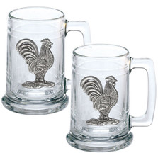 Rooster Beer Stein Set of 2 | Heritage Pewter | HPIST3760