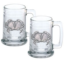 Sand Crab Beer Stein Set of 2 | Heritage Pewter | HPIST3410