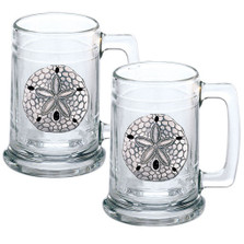 Sand Dollar Beer Stein Set of 2 | Heritage Pewter | HPIST3300