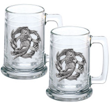 Sea Otter Beer Stein Set of 2 | Heritage Pewter | HPIST4187