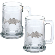 Striped Bass Beer Stein Set of 2 | Heritage Pewter | HPIST4238